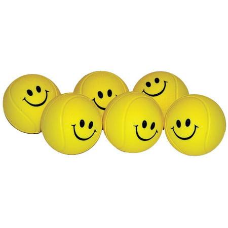 Foam Smiley Face Tennis Trainer Set Of 6 Walmartcom