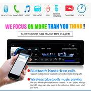 One DIN In-Dash 12V Bluetooth Car Radios Stereo Remote Control Digital Audio Music Stereo Car Radio Mp3 Player USB/SD/AUX-IN