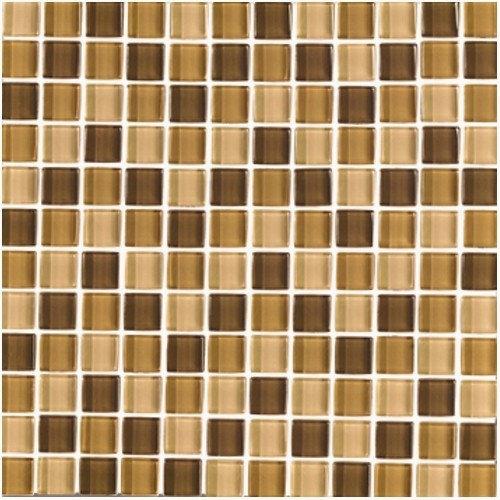 Interceramic Shimmer Blends 1'' x 1'' Ceramic Mosaic Tile in Desert