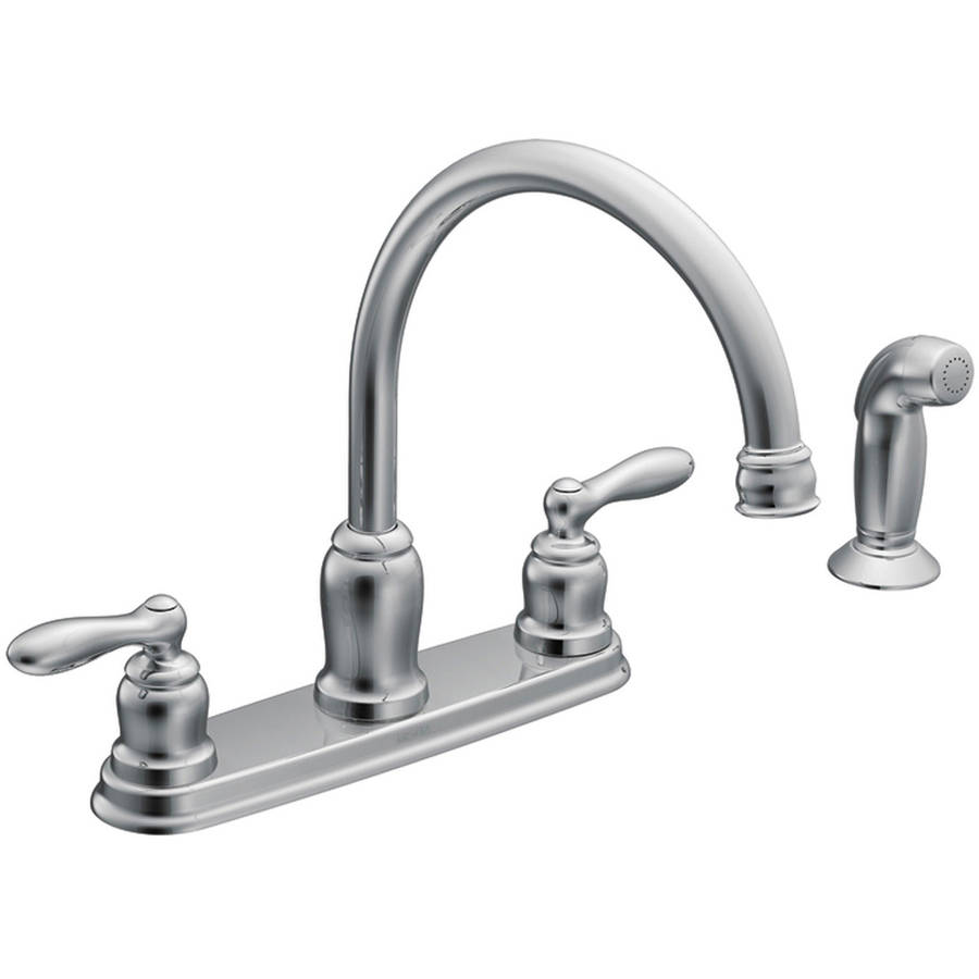 Moen CA87888 Chrome Caldwell 2 Handle High Arc Kitchen Faucet