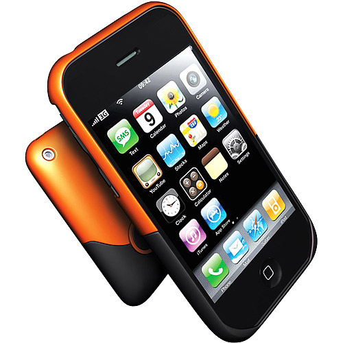 iFrogz Luxe Case for iPhone 3G, 3GS (Orange,Black)