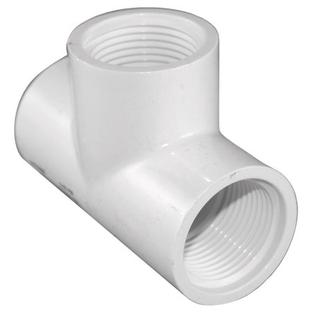 Charlotte Pipe Threaded Tee Sch 40 Pvc 3/4