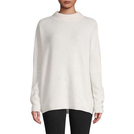 Rib-Knit Cashmere Mockneck Sweater ()