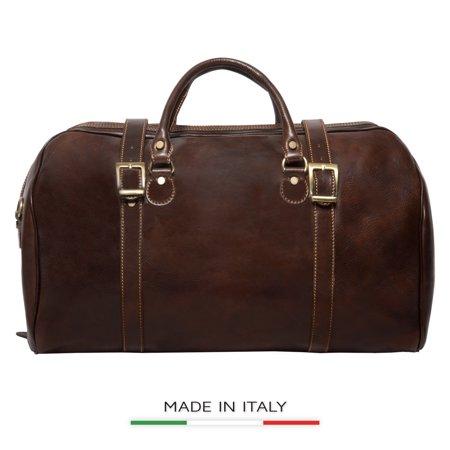 Alberto Bellucci Italian Leather Torino Carry-on Tourist Duffel (Alberto Guardiani Leather)