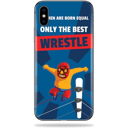 Skin for Apple iPhone X - Best Wrestle| MightySkins Protective, Durable, and Unique Vinyl Decal wrap cover | Easy To Apply, Remove, and Change Styles | Made in the