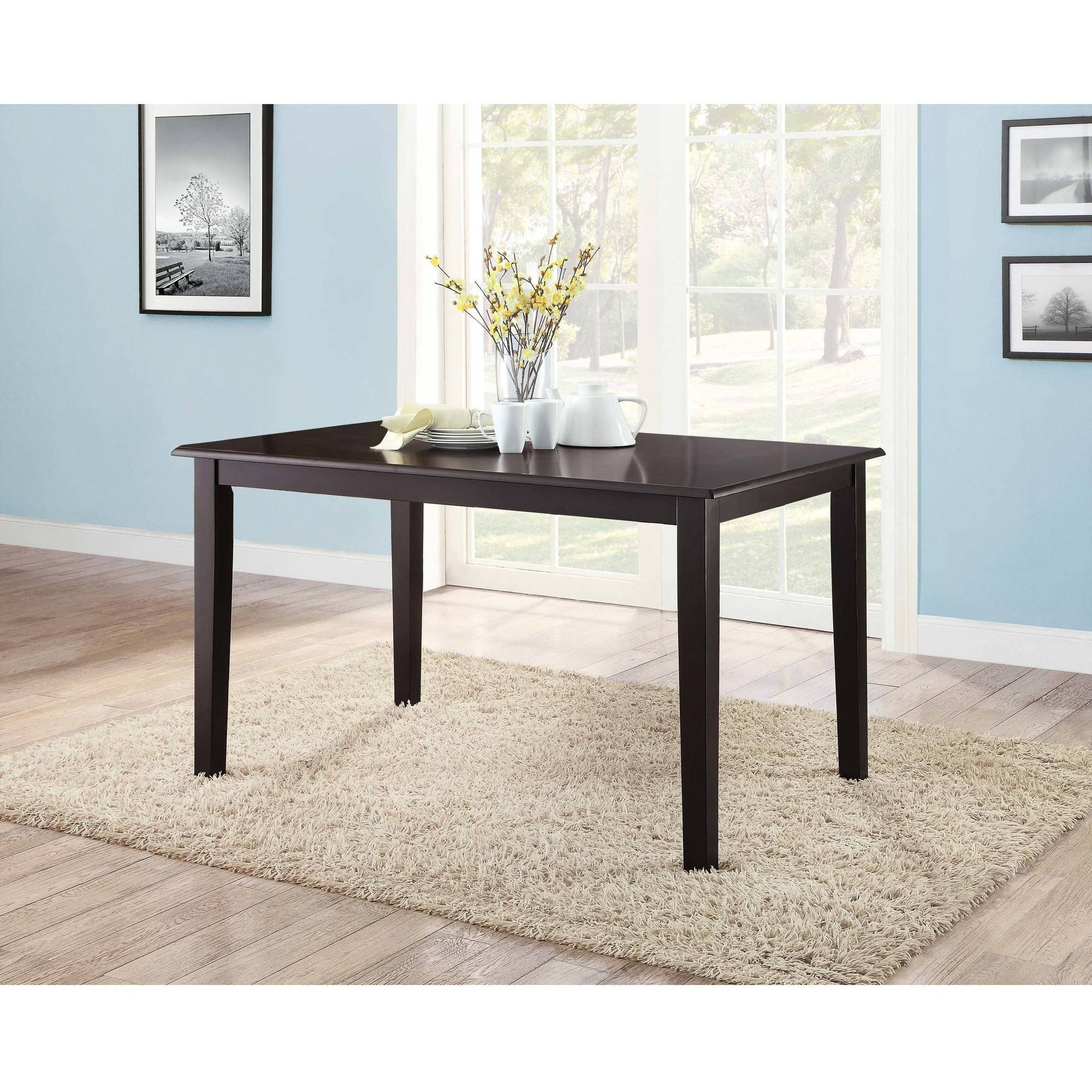 Mainstays Dining Table, Rich Espresso Finish (Seats 6 Comfortably)