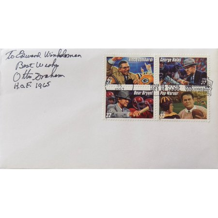 Otto Graham Cleveland Browns Auto First Day Cover To Ed Inscribed