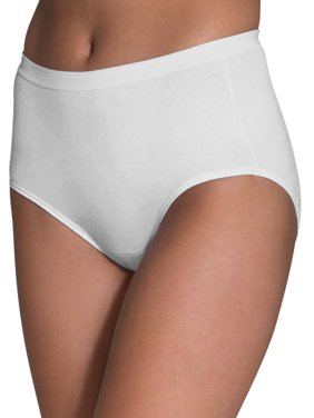 a97a9aa23e45 Product Image Fruit of the Loom Women's White Cotton Brief Panties - 10 Pack