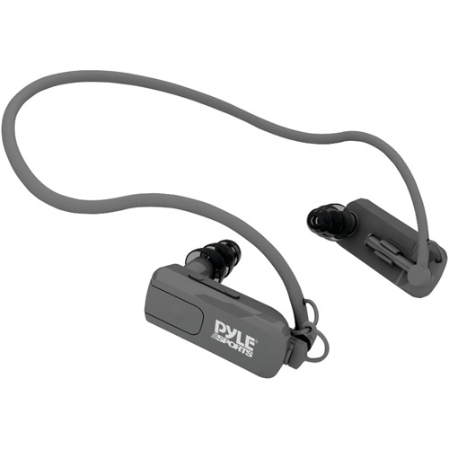 Pyle Waterproof Neckband MP3 Player and Headphones PSWP4BK, Black