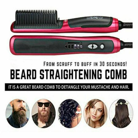 Electric Hair Straightening Brush 2, Anti-scald Patented Design, PTC Heating Technology, 30 Mins Auto Shut Off, Great Styler At Home (Great Hair Straightener)