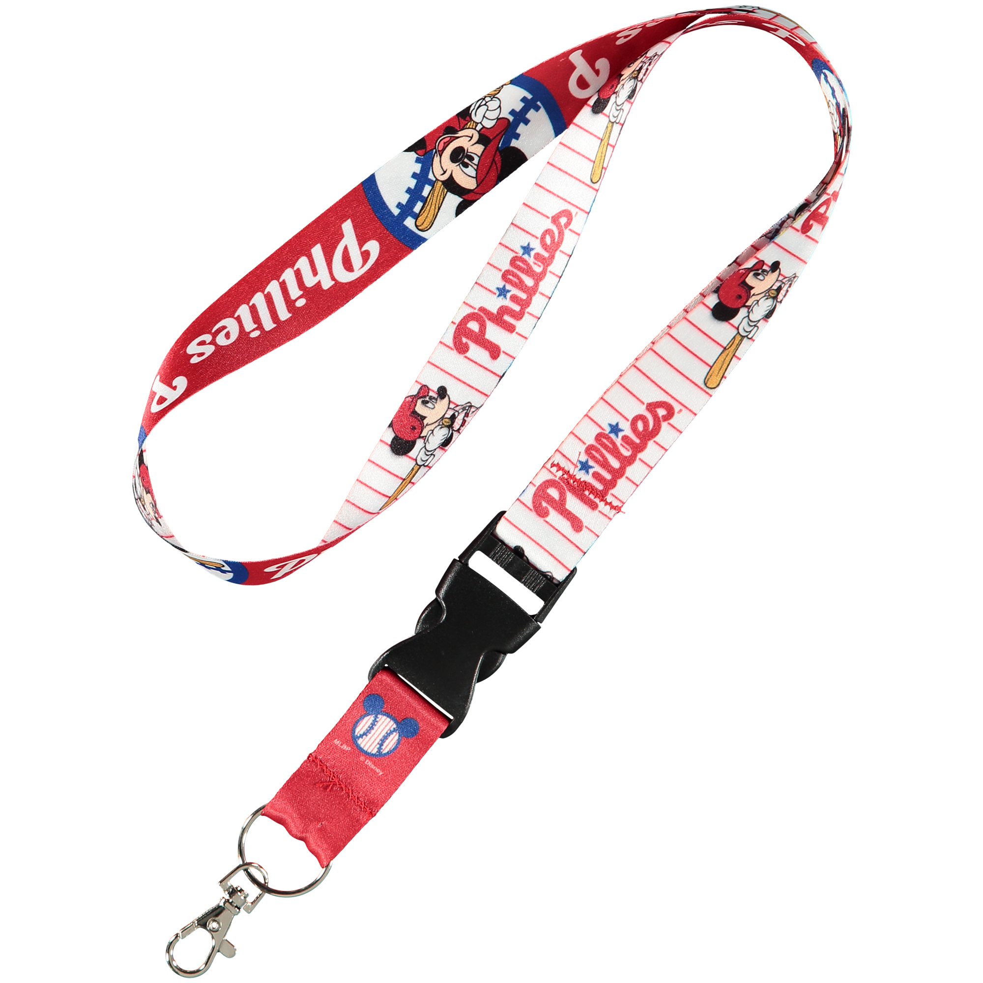 Philadelphia Phillies WinCraft One-Inch Disney Lanyard With Detachable Buckle - No Size