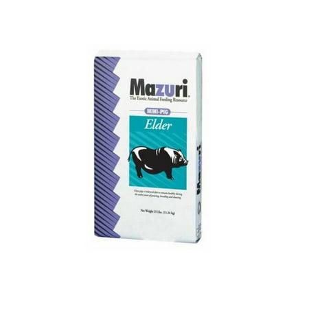 (Mazuri Mini Pig Elder Poultry Food Complete Nutrition Supplements Minerals 25 lbs)