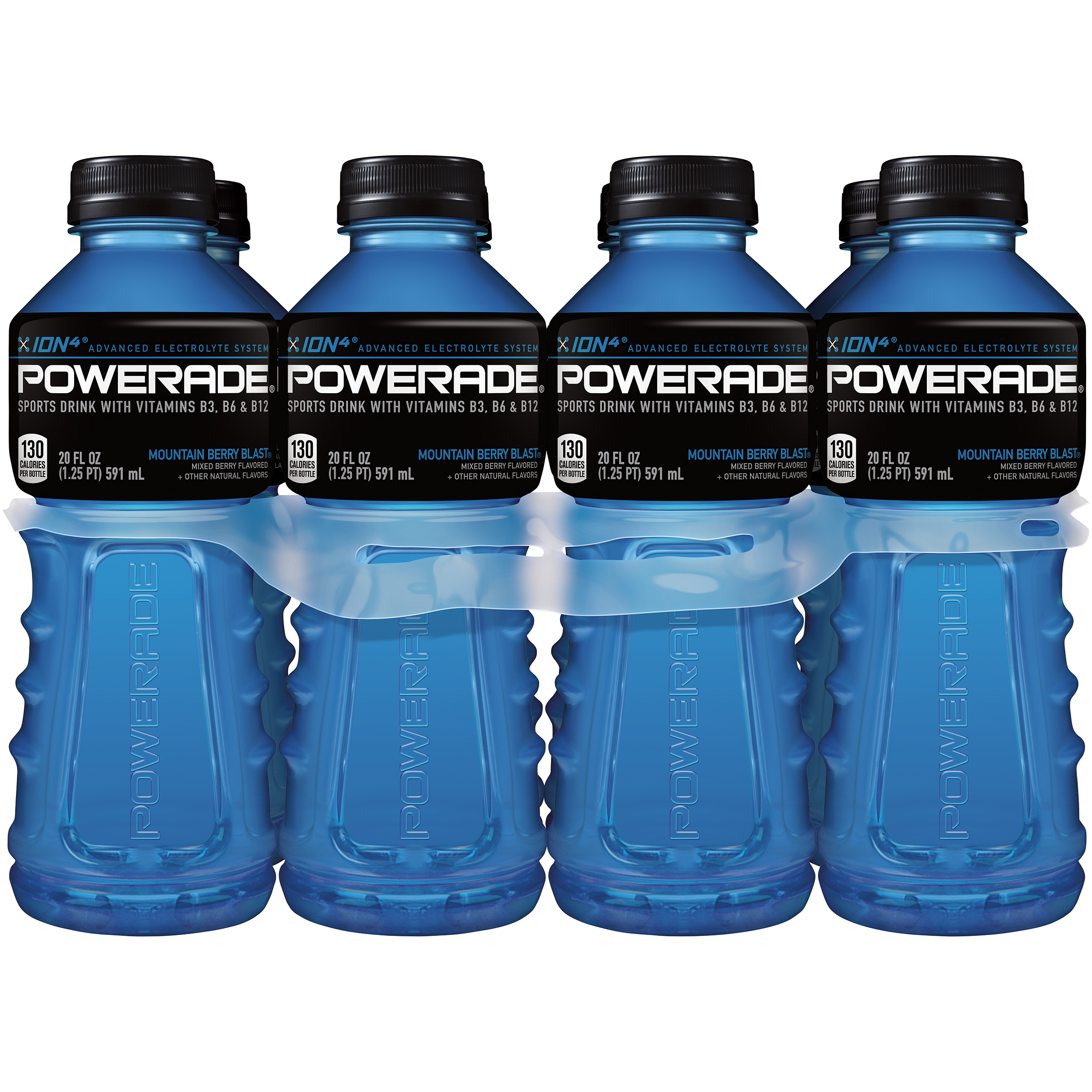 Powerade ion4 Sports Drink, Mountain Blast, 20 Fl Oz, 8 Count