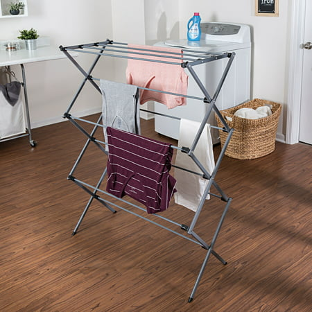 Mainstays Deluxe Folding Metal Accordion Drying Rack,