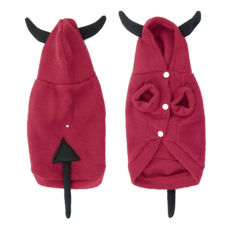 Unique Bargains Winter Wearing Red Black Hooded Pet Dog Yorkie Coat Ap
