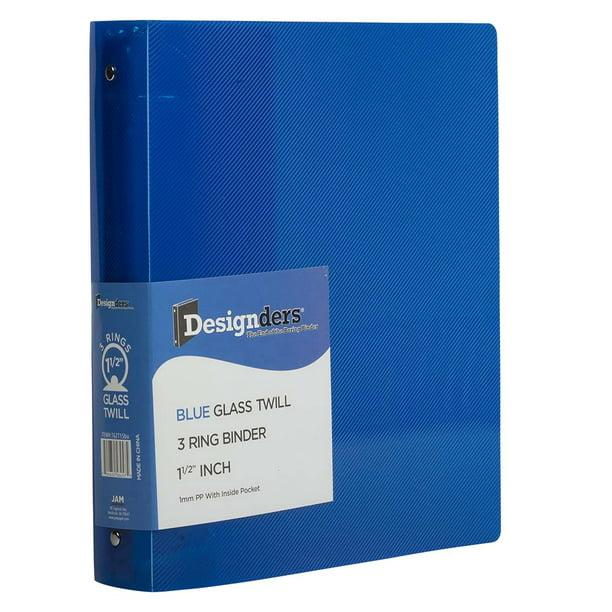 JAM Plastic 3 Ring Binder, 1.5 Inch, Blue, 1/Pack