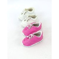 bc31269cc430 Product Image 2 pack of slip on sneakers: pink and white| Fits 18