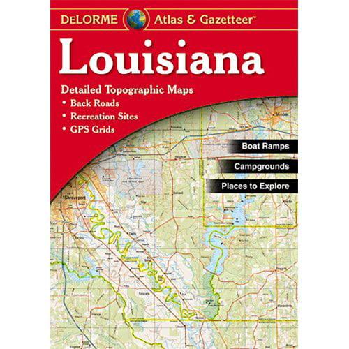 Universal Map Louisiana AtlasGazetteer Walmartcom