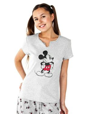 ff5bbf3601d Product Image Juniors Mickey Mouse Pajama Sleep Tee Top Gray. Disney