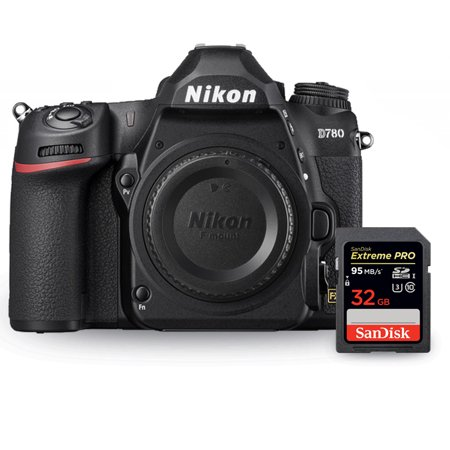 Nikon D780 DSLR Camera 1618 (Body Only) + Sandisk Extreme Pro 32GB SD