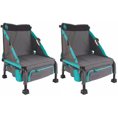 339cb532c3e6 Coleman Treklite Plus 2-in-1 12 Can Coolerpack and 14-Inch Chair, Teal (2  Pack) - Walmart.com