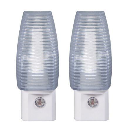 Amerelle 70056 LED Faceted Auto On/Off Night Light, 2-Pack