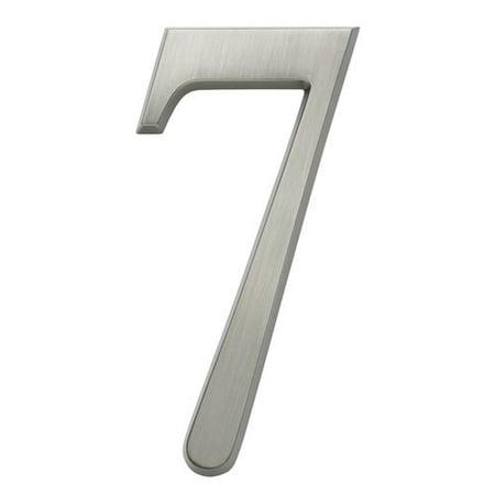 Nickel 3 Address Numbers - DeSign-it 4 Brushed Nickel 4.75
