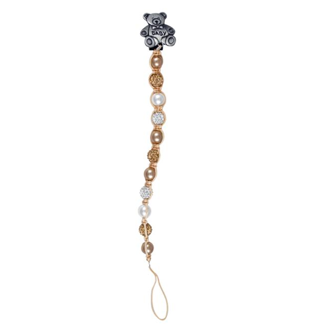 Dlux Jewels Baby Peach Pacifier Clip