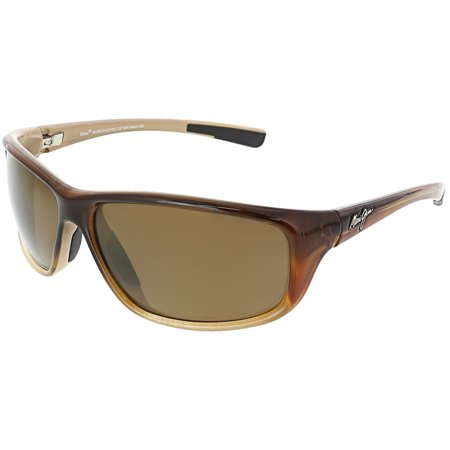 Maui Jim Men's Spartan Reef H278-70 Brown Rectangle Sunglasses ()