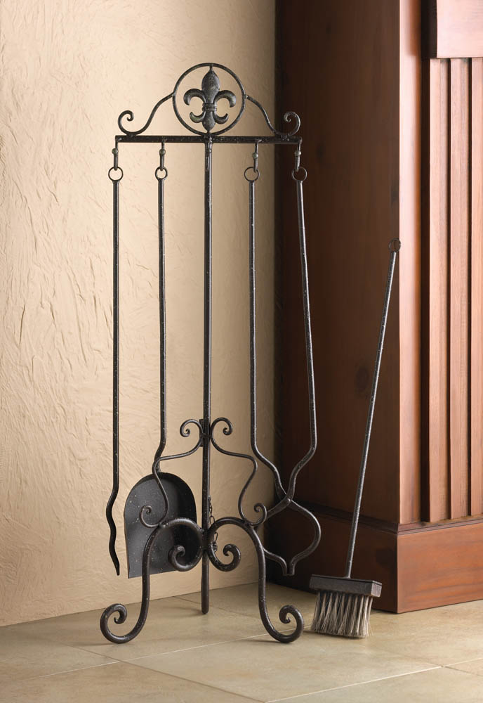 Free Shipping. Buy Zingz & Thingz Fleur De Lis 5 Piece Iron Fireplace Tool Set at Walmart.com