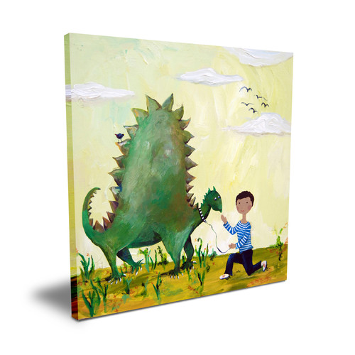 Cici Art Factory Wit & Whimsy Dino African American Canvas Art