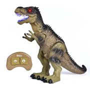 "Remote Control Dinosaur Toys for Boys with Walking & Lights & Roaring & Spraying, RC T-Rex for Kids 18.5""(L)13.3""(H) Large Size Halloween Kids SuppliesF-248"