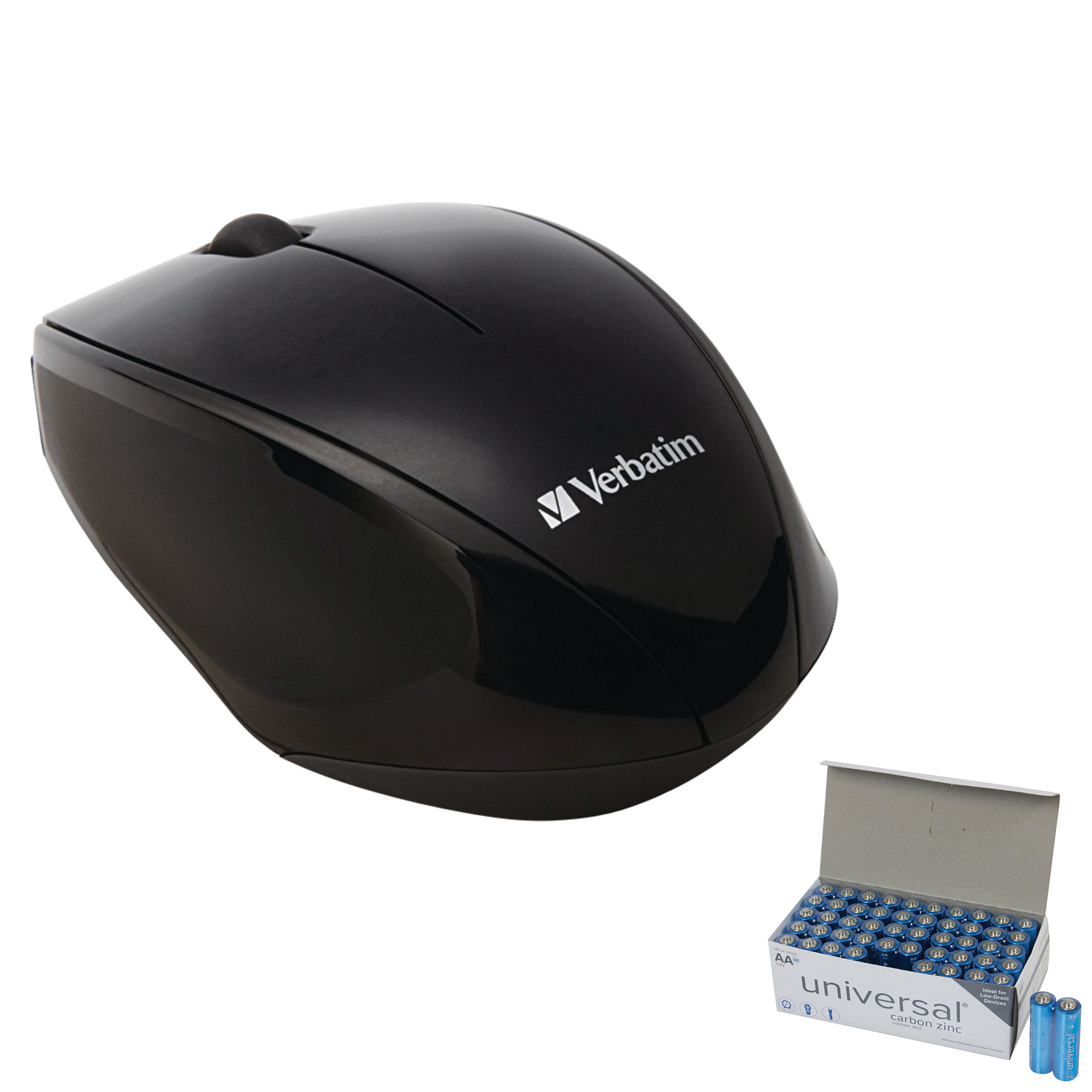 Wireless Multi-Trac Blue LED Optical Mouse in Black