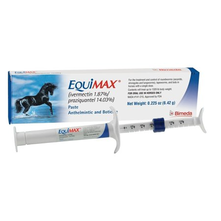 Equim6.42G Wormer Paste, 100% effective against the most common species of tapeworm, A. perfoliata. By Durvet