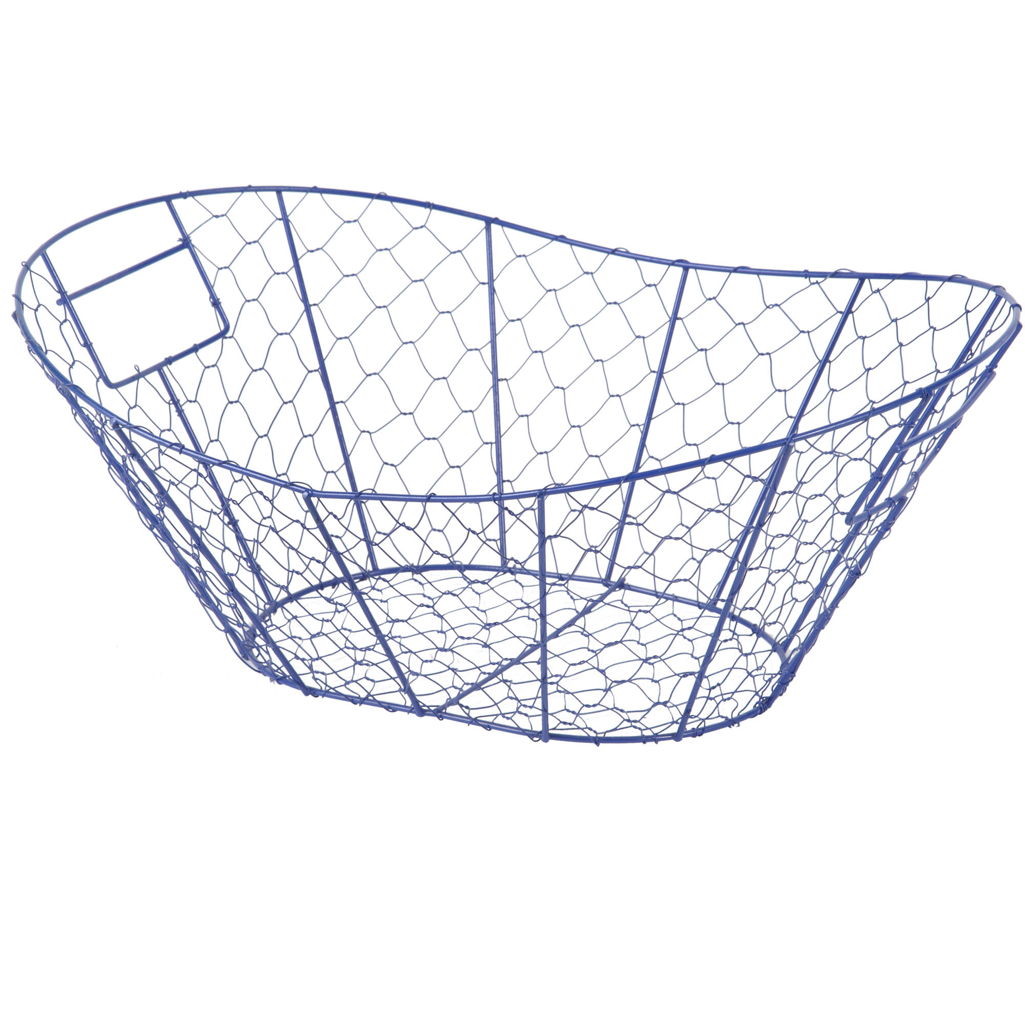 Blue Wire Mesh Basket