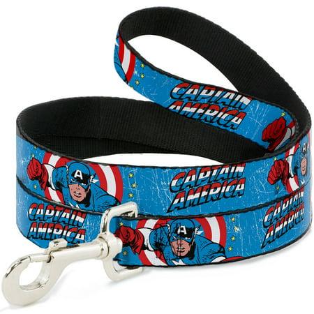 Dog Captain America (marvel comics dog leash - captain america w action pose weathered)