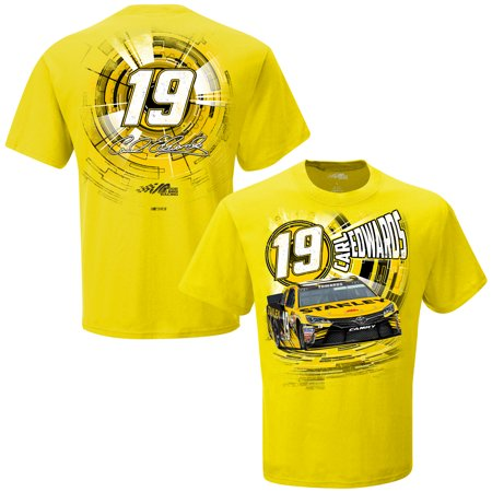 Carl Edwards Joe Gibbs Racing Team Collection Speedbolt T-Shirt - - Aqua Team Carl