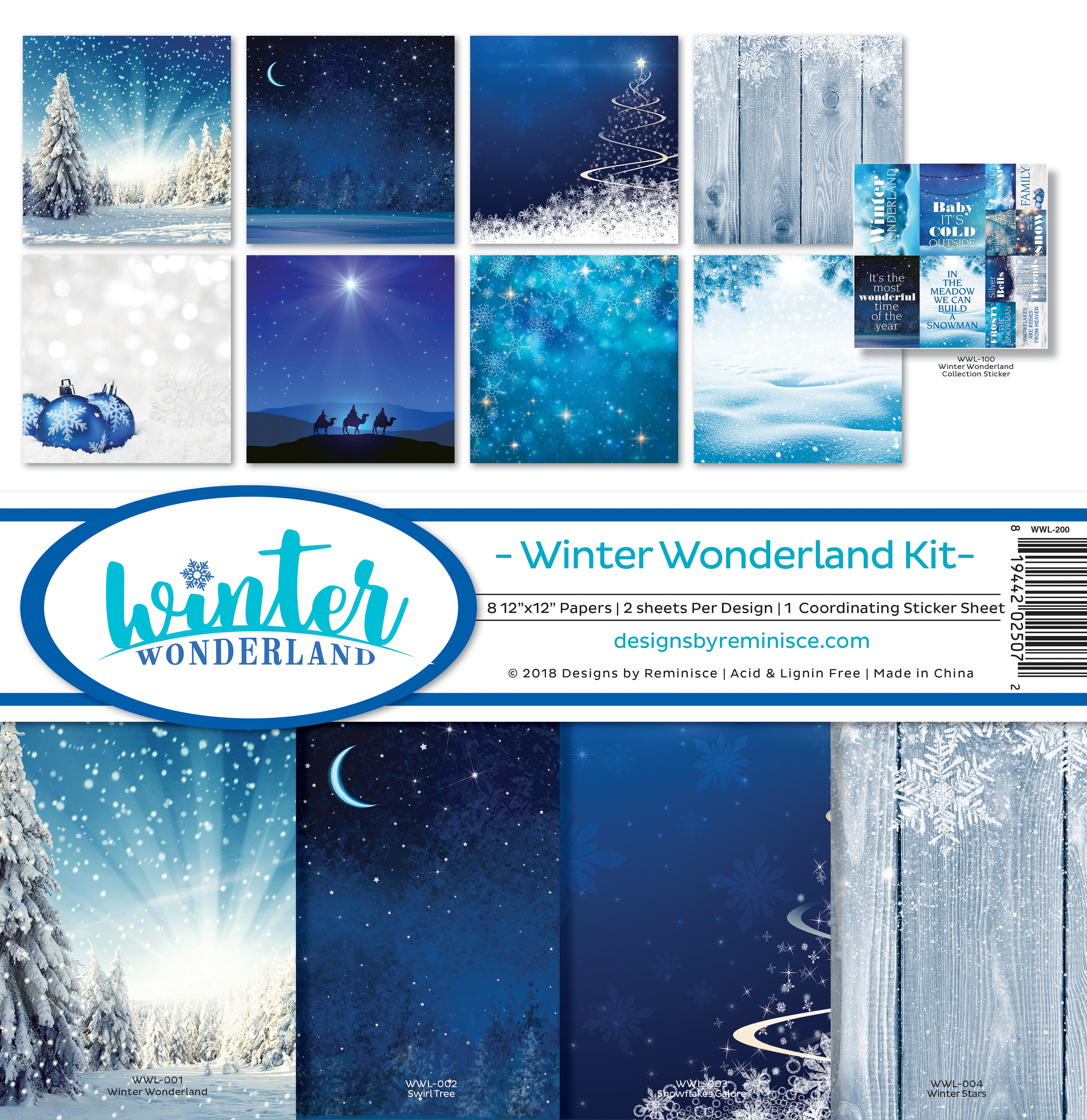 "Reminisce Collection Kit 12""X12""-Winter Wonderland"