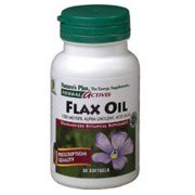 Flax Seed Oil 1300mg Nature's Plus 30 Softgel