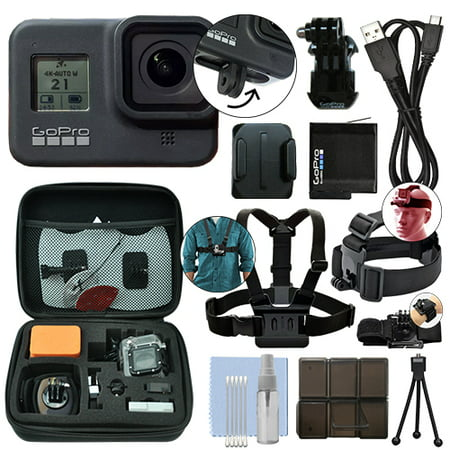 GoPro HERO8 Black 12 MP Waterproof 4K Hero 8 Camera Camcorder + Ultimate Action Bundle