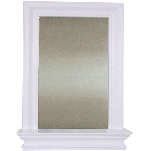 Elegant Home Fashions Bari Wall Mirror with Shelf, White by Generic