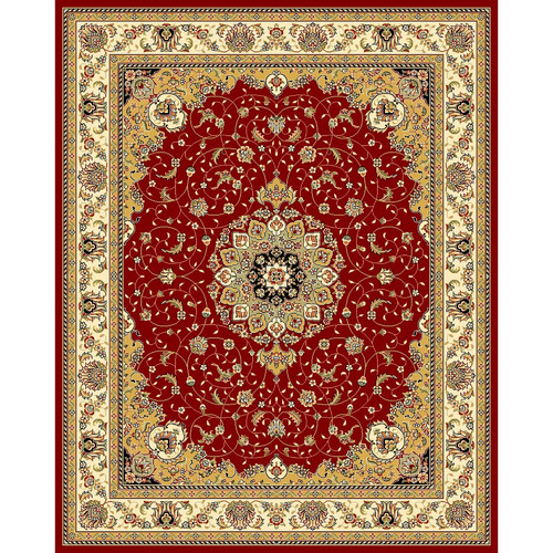 Safavieh LNH329C Lyndhurst Red and Ivory Power Loomed Polypropylene Traditional