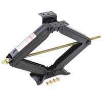 Red Hound Auto 1 Heavy Duty RV Trailer Stabilizer Scissor Jack Lift Levelers 5000 Pound (2.5 Ton) Capacity Each 13.75 to 23.5 Inch Range (Includes mounting Hardware)