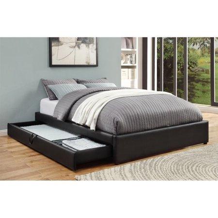 Coaster Hunter Queen Upholstered Storage Bed in Black