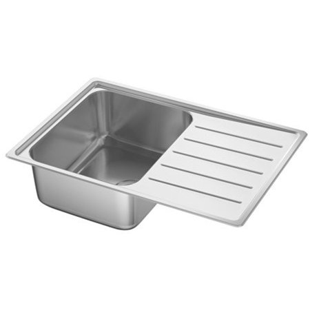 Ikea Single bowl top mount sink, stainless steel 34386.17265.166