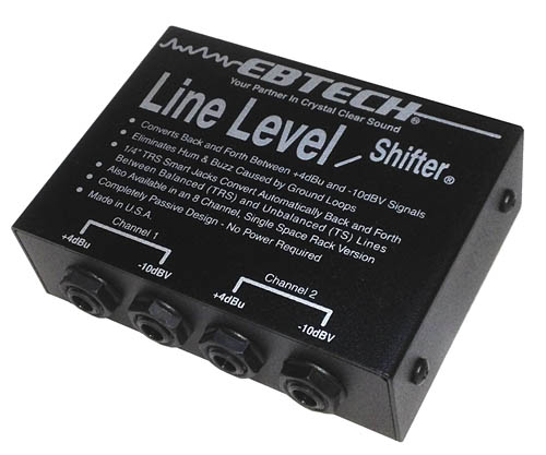 Ebtech Line Level Shifter× 2 Channel Box by Morley