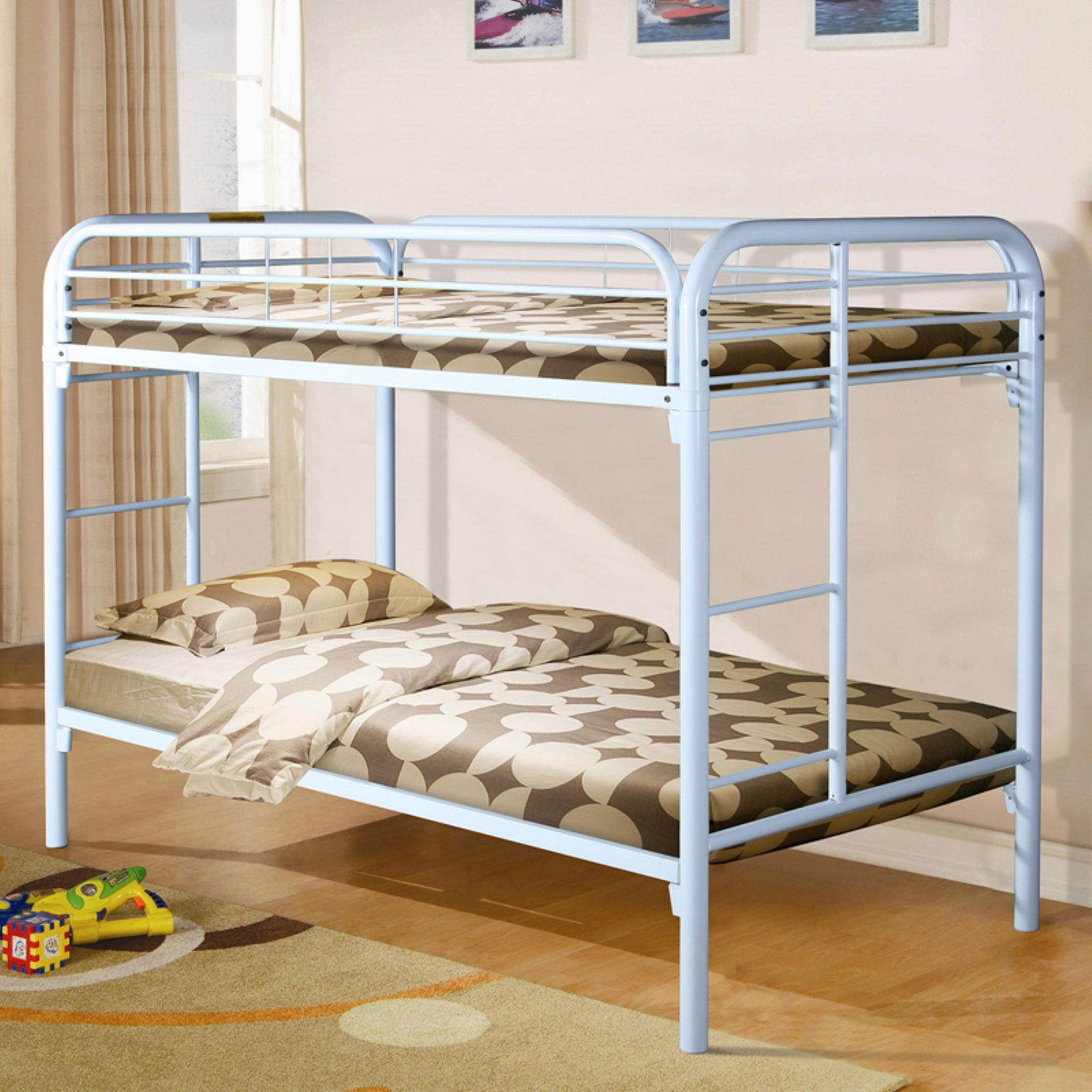 Donco Kids Metal Twin over Twin Metal Bunk Bed