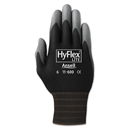 Hyflex Lite Gloves, Black/gray, Size 11, 12 Pairs