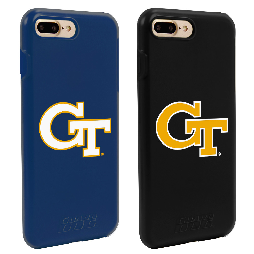 Georgia Tech Yellow Jackets Fan Pack (2 Cases) for iPhone 7 Plus/8 Plus with Guard Glass Screen Protector NCAA