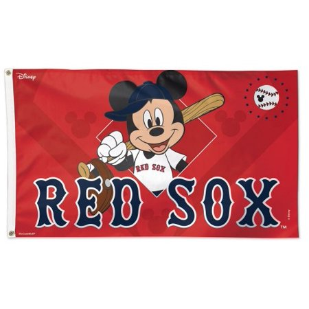 Boston Red Sox Flag 3x5 Mickey Mouse Disney (Halloween Six Flags America)